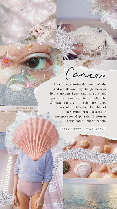 zodiac aesthetics - cancer - Wattpad Cancer Zodiac Art, Cancer Horoscope, Astrology Zodiac, Zodiac Scorpio, Aesthetic Iphone Wallpaper, Aesthetic Wallpapers, Soft Wallpaper, Wallpaper App, Aesthetic Lockscreens