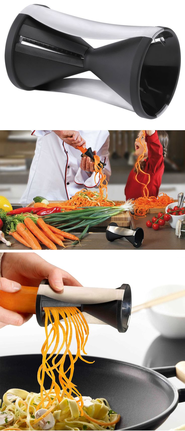 Κόφτης λαχανικών για μακαρονάδες από λαχανικά - Spirelli