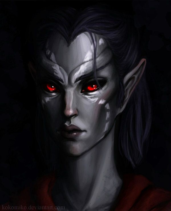 Just a Dunmer because I love them so much. like gosh, do I love them. You also probably know this already. Photoshop CS5