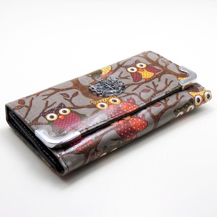 Grey owl print purse £9.95 x