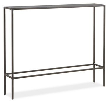 Slim Console Tables in Natural Steel - Console Tables - Living - Room & Board