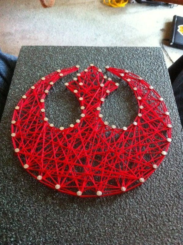 Rebel Alliance | Rebel Alliance String Art ∙ How To by JediGrrrl on Cut Out + Keep
