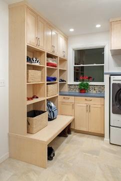 Harmony of Finishes - laundry room - austin - CG Design-Build, mud room, drop zone, laundry room