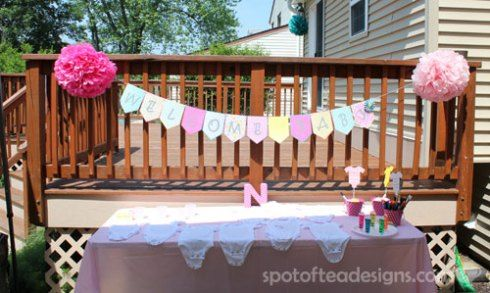 Simple, Colorful Baby Shower