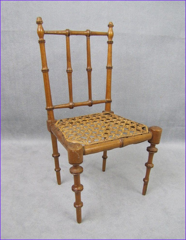 Antique French Doll Chair c1860s Cane Seat Unusual Wood Turning - 39 Best Faux Bamboo Doll Furniture Images On Pinterest Doll
