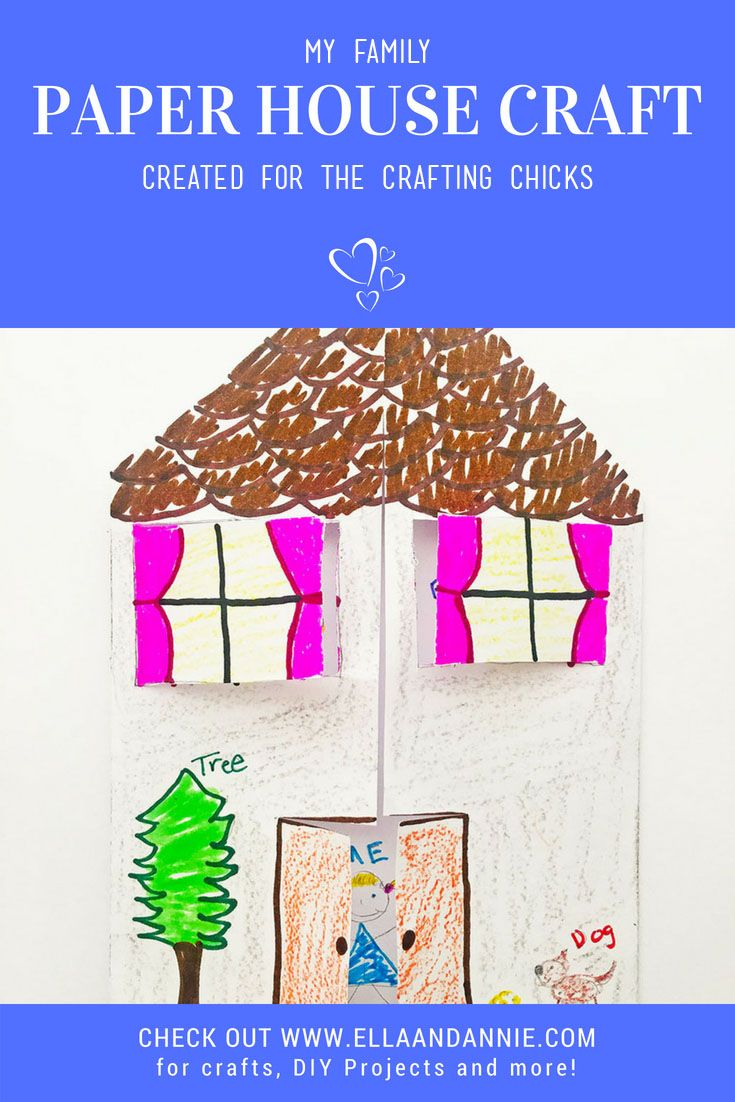 Paper House Craft Kids Crafts And Activities Crafts For Kids