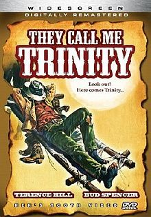 They Call Me Trinity - 1970 Spaghetti Western - made in Italy - saw this years later, still can't get over the image of a cowboy scarfing down chili with red wine.  I wonder if that's good.