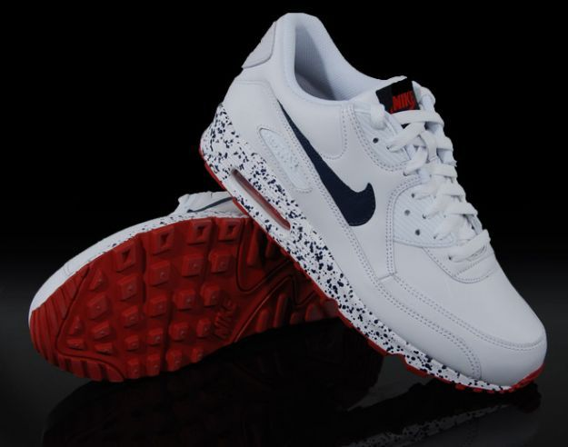 the latest ee34d 672f5 ... Customs from Sierato  Nike Air Max 90 - Paint Splatter Pack (White    Navy   Red)