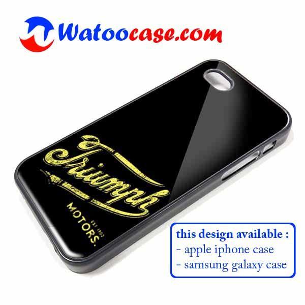 Triumph Motorcycles Phone Case | Apple iPhone 4 4s 5 5s 5c 6 6s Plus Samsung Galaxy S3 S4 S5 S6 S7 EDGE Hard Case. Triumph Motorcycles Phone Case