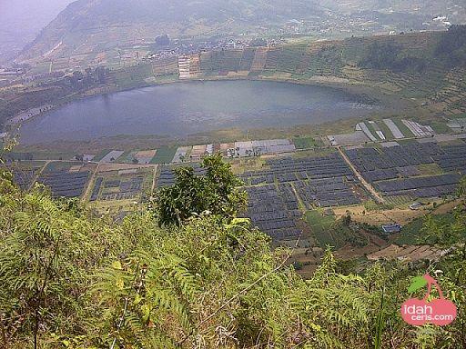 Telaga Merdada View From Pangonan Hill