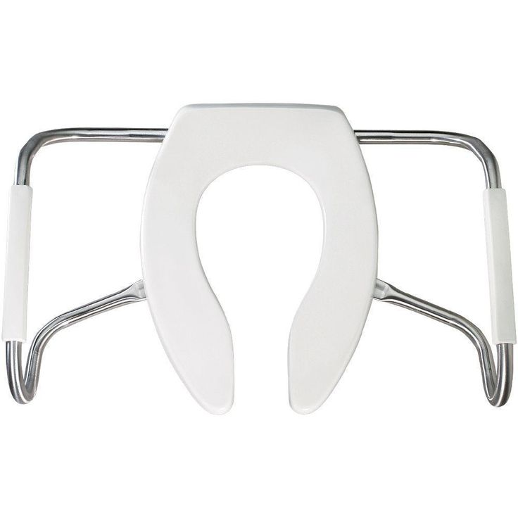 Bemis Products Medic-Aid STA-Tite Elongated Open Front White Toilet Seat (18.75 in H x 27.5 in W x 7 in D)