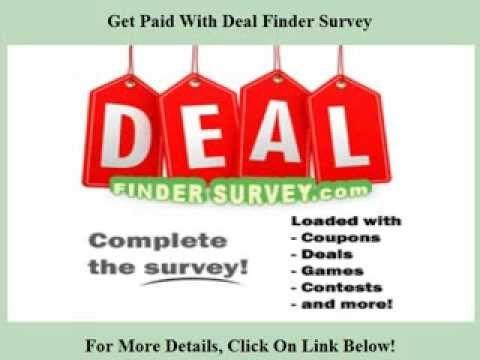Deal Finder Survey http://youtu.be/kZh3NXznfN8