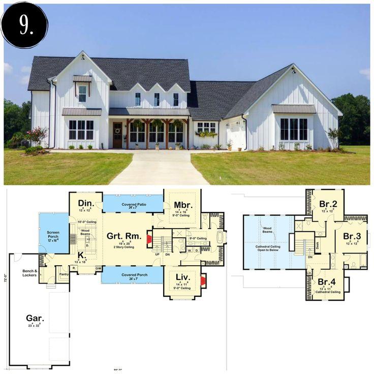 The 25+ Best Farmhouse Floor Plans Ideas On Pinterest | Farmhouse House  Plans, Farmhouse Plans And 4 Bedroom House Plans