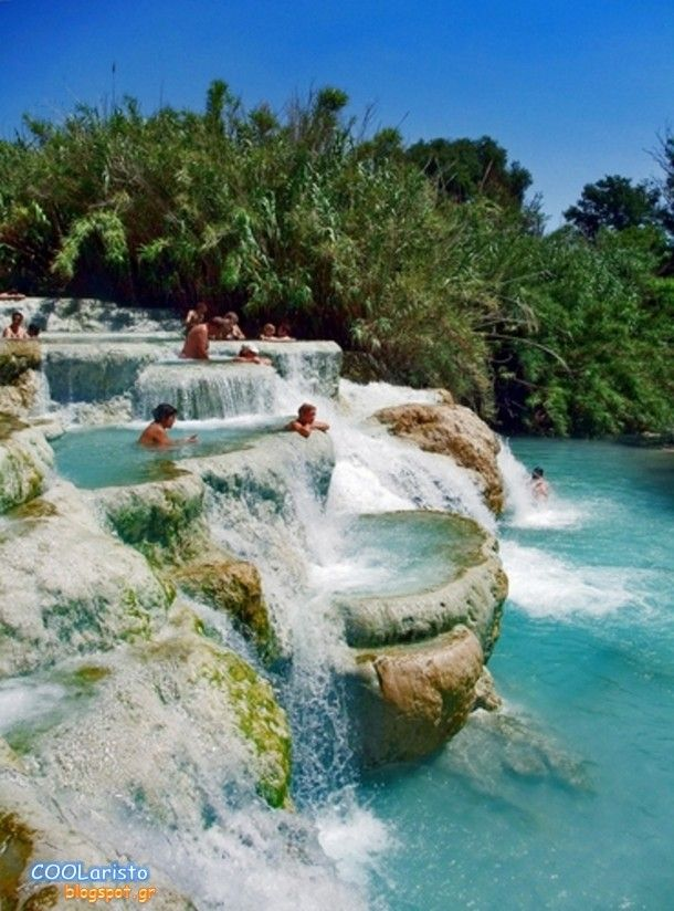 Beautiful Pictures that will Leave you Breathless - Hot Water Pools of Saturnia in Tuscany – Italy