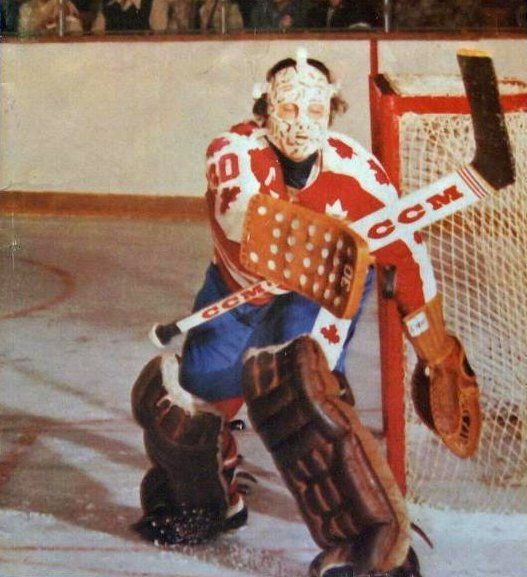 gerry cheevers stops one for canada in '74