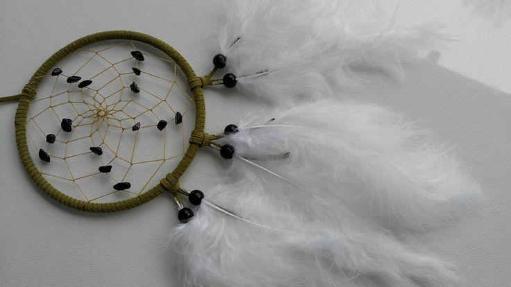Wohnaccessoires -  Steinbock -  Schwarzer Turmalin im Dreamcatcher  - ein Designerstück von Traumnetz-com bei DaWanda