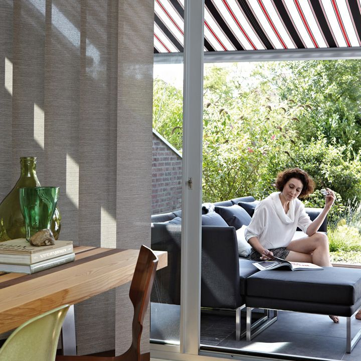 Stylish Luxaflex® Awnings and Vertical Blinds.