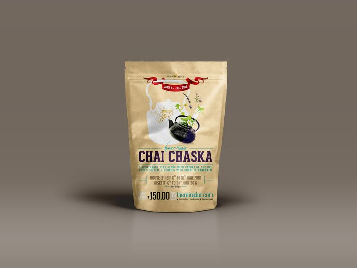 "Check out my @Behance project: ""Chai Chaska (Tea) Festival"" https://www.behance.net/gallery/37972621/Chai-Chaska-(Tea)-Festival"