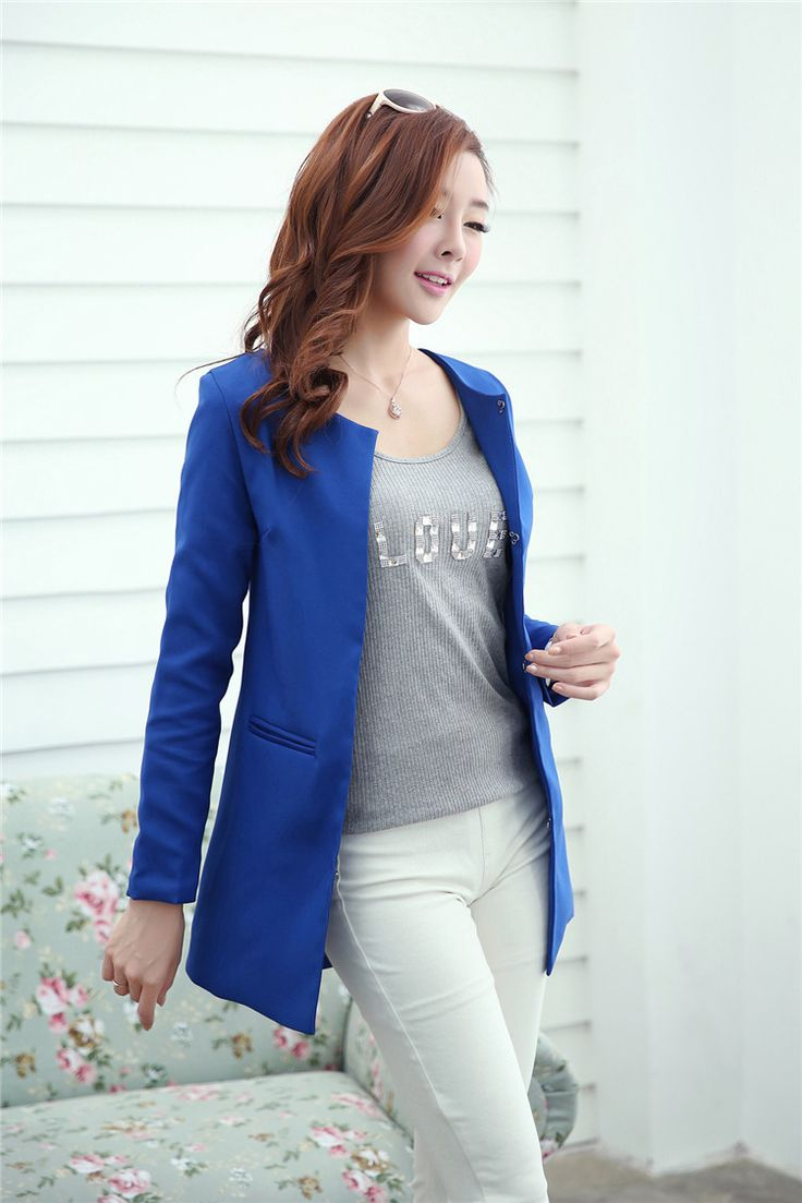 $21.00 for a Fashion Womens Coat Slim Ladies Blazer Bussell Slim TRENCH Jacket Suit 4 Colors