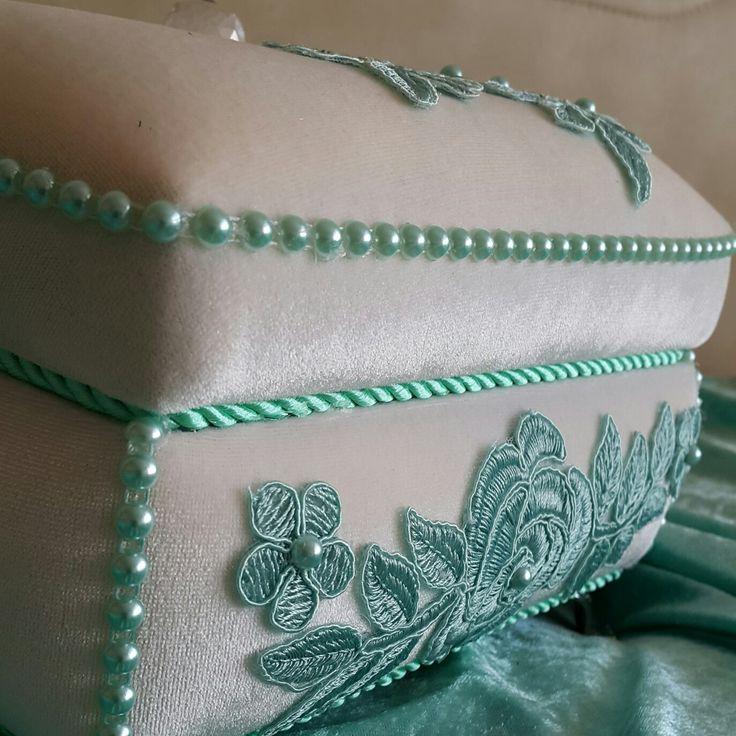 Kapaklı dekoratif kare kutu  #Ceyizlik #evhediyesi  #sabunluk  #hediyelik  #dekoratifkutu