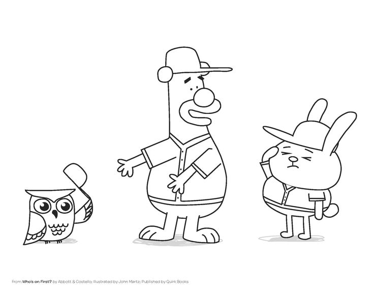 Who's on First #coloring sheet (http://www.quirkbooks.com/book/whos-first)
