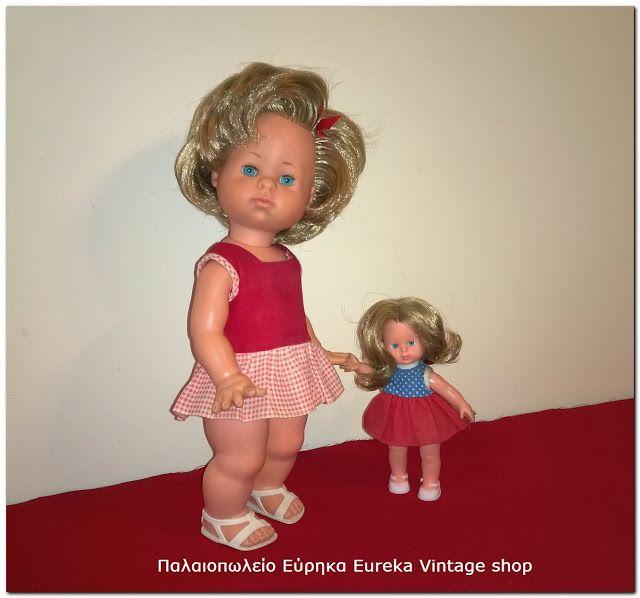 2 ιταλικές κούκλες Italocremona.  2 κούκλες της ιταλικής εταιρίας Italocremona φτιαγμένες από βινύλιο.