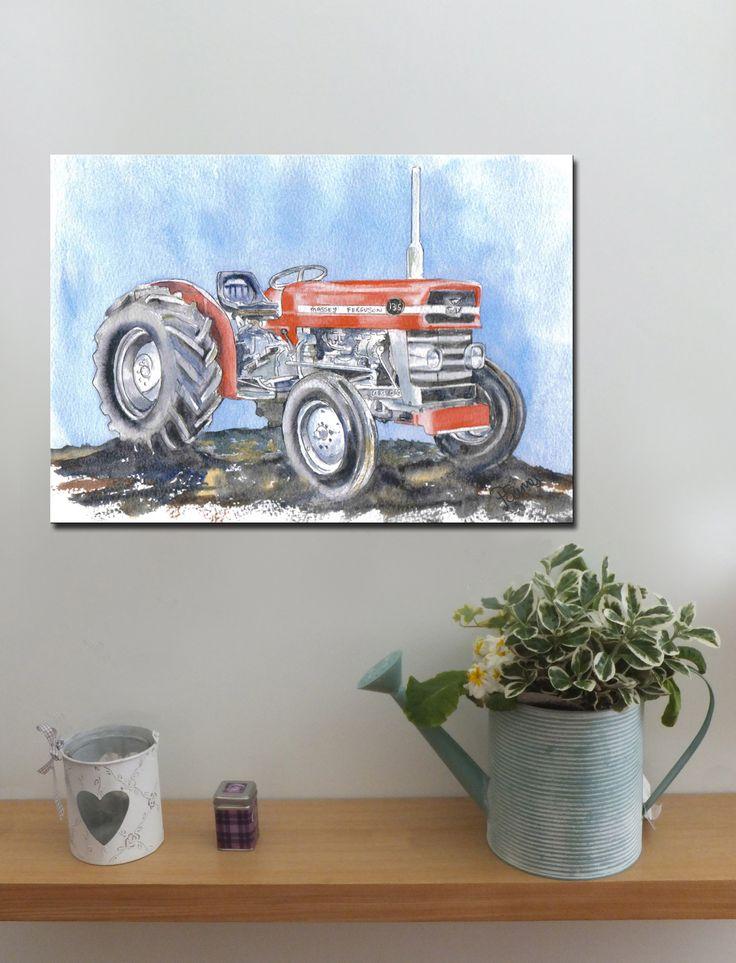 MASSEY FERGUSON TRACTOR 135 http://www.splashyartystory.com/shop/art-prints/massey-ferguson-135-tractor/