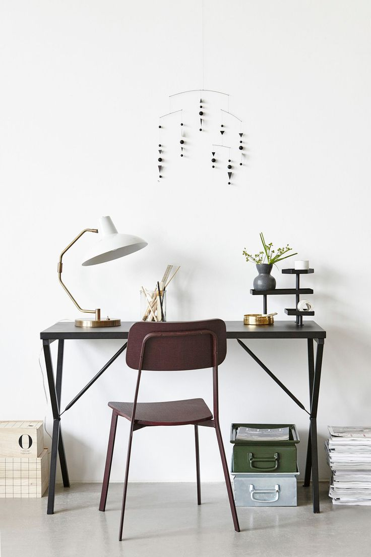 minimalistic working space home office