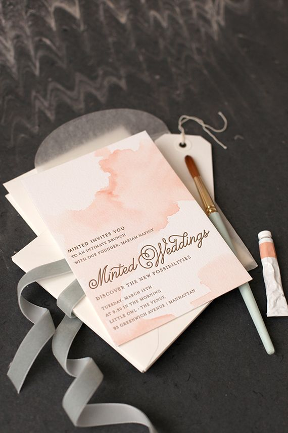 80 best invitations stationary images on pinterest invitation diy watercolored letterpress invites junglespirit Images