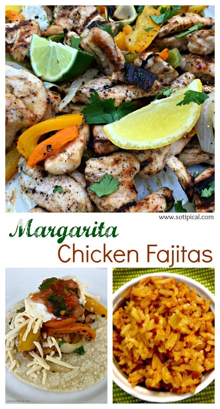 Margarita Chicken Fajitas - So TIPical Me - Cinco de Mayo Recipe