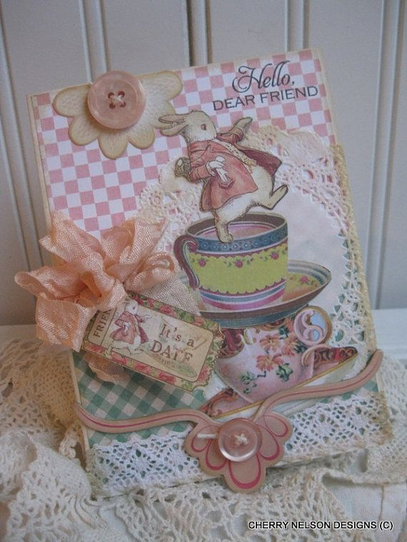 shabby+chic+card+alice+in+wonderland+card+by+cherrysjubileecards,+$8.75