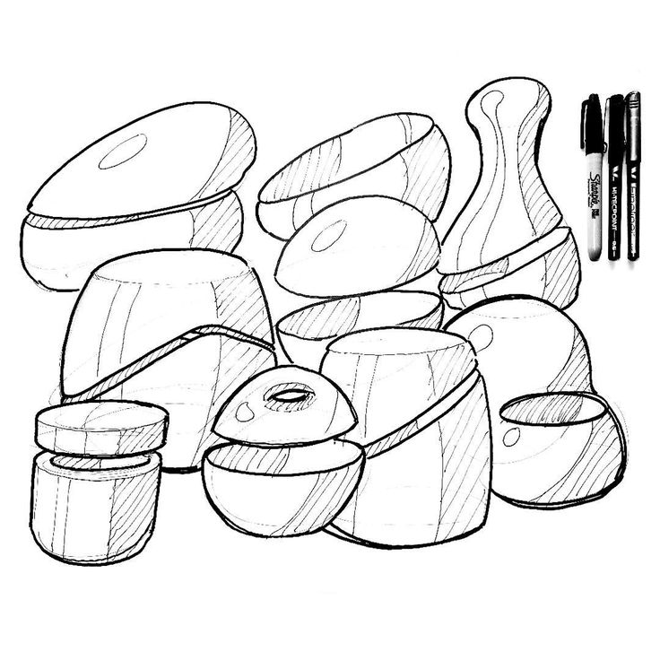 """Always time for some warmup jugs, or if you want to sex it up a bit """"vessels"""", by Robin Stethem of STETHEM.COM #designsketching #idsketching #industrialdesign #design #sketch #sketching #sketchbook #productdesign #process #sketchaday #id #concept #conceptdesign #productdesigner #industrialdesigner #project #designwork #designlife #warmup #vessel"""