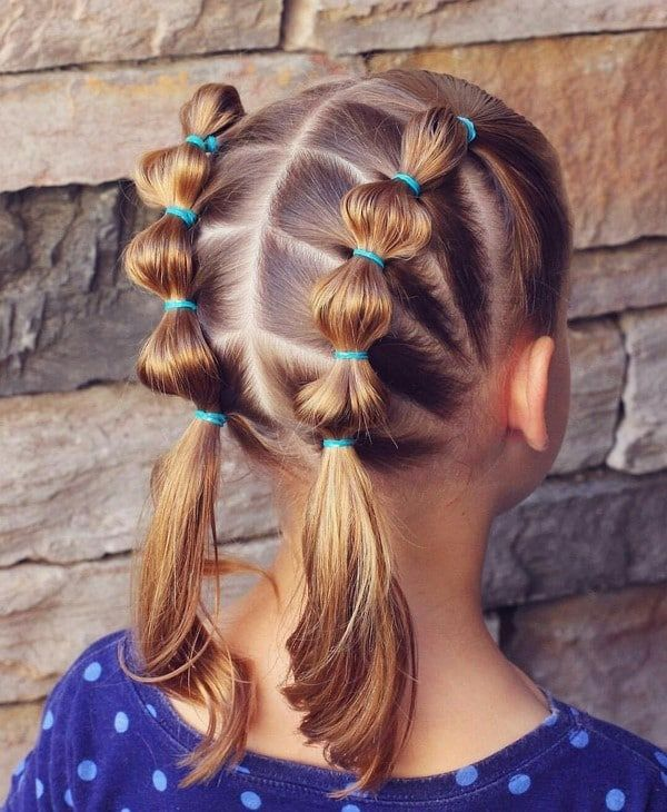 Trendy Hairstyles 2018 2019 In Kindergarten And School Holiday Hairstyles For Girls The Lazy Cute Ponytail Hairstyles Girl Hair Dos Toddler Hairstyles Girl