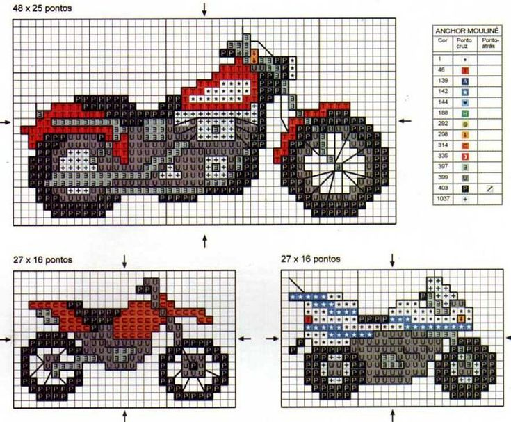 62 best motorcycles and bikes in crosstitch images on ...