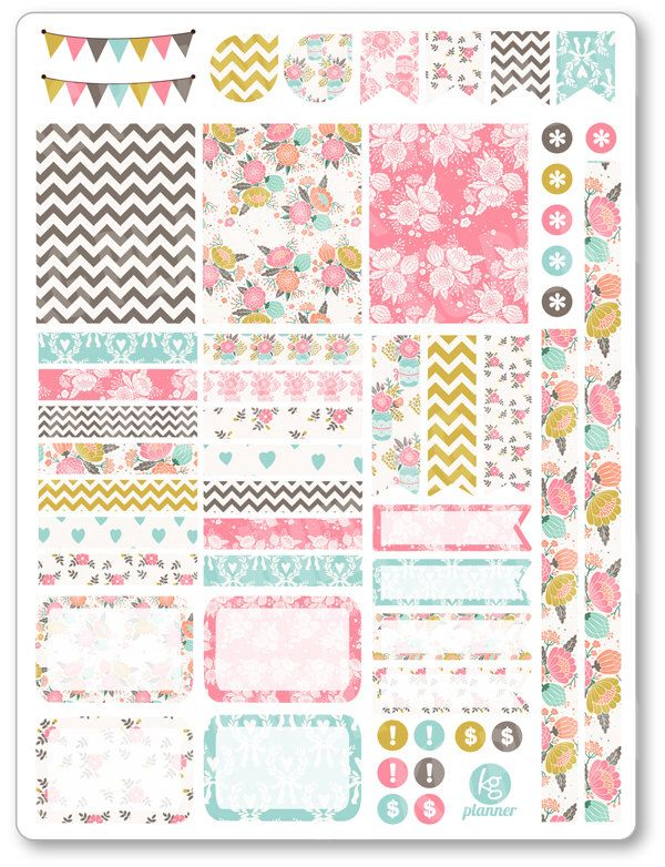 Shabby Chic Decorating Kit / Weekly Spread Planner Stickers for Erin Condren Planner, Filofax, Plum Paper by PlannerPenny on Etsy https://www.etsy.com/listing/267667392/shabby-chic-decorating-kit-weekly-spread http://amzn.to/2s1tBOU