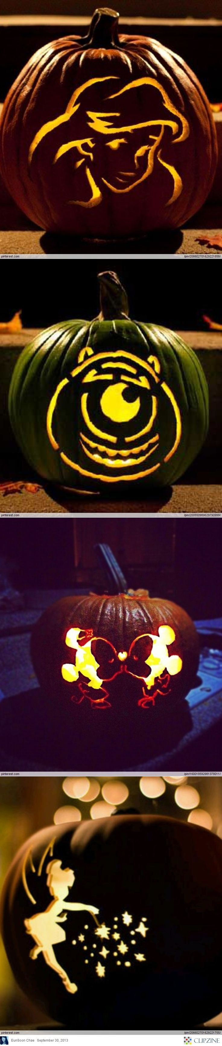 hier sind ein paar #Ideen zum Kürbisschnitzen zu #Halloween