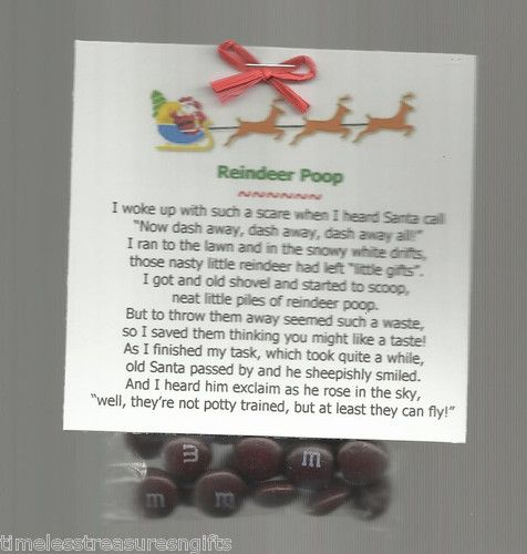 New Christmas Reindeer Poop Novelty Gag Gift M M's Candy Favor Stocking Stuffer | eBay