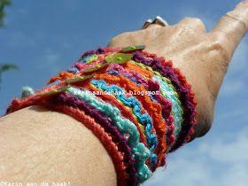 """Karin aan de haak: Armband """"Because I Love Color"""""""