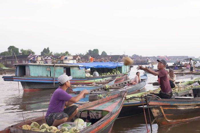 Muara Kuin Floating Market, Banjarmasin