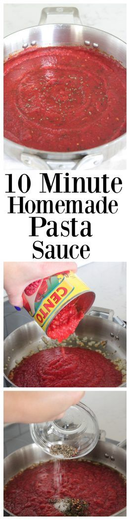 10 Minute Homemade Pasta Sauce, perfect with any pasta!