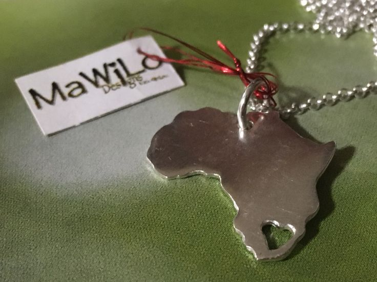 MaWiLo Designs  Sterling silver Africa pendent mawilo.designs@gmail.com