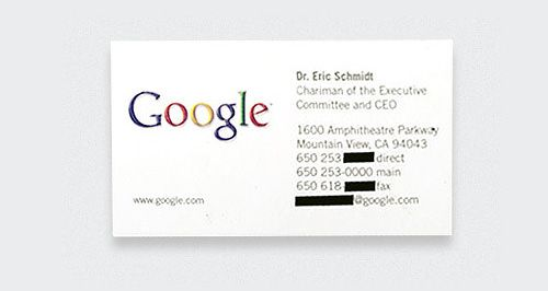15 Classic Business Cards Of Tech Legends