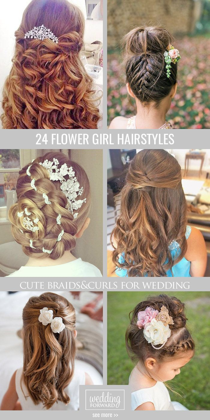 24 Cute Flower Girl Hairstyles ❤ Here you find some simple flower girl hairsty...