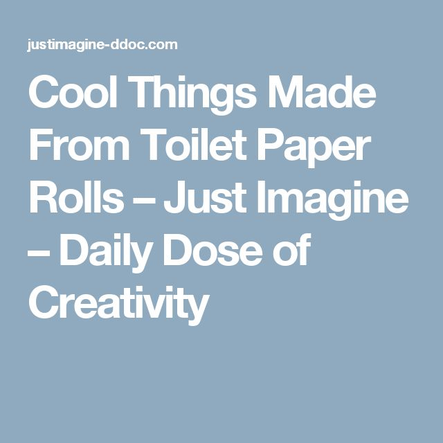 Cool Things Made From Toilet Paper Rolls – Just Imagine – Daily Dose of Creativity