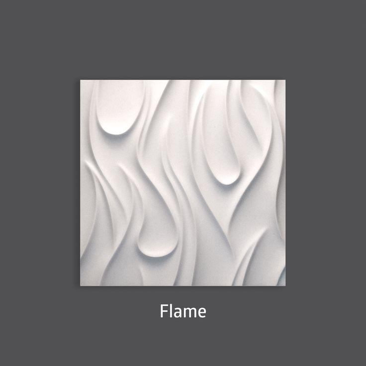 Pure Elegance. Flame 3D Wall Tile by #TexturalDesigns #SculpturalTile #3DTile…