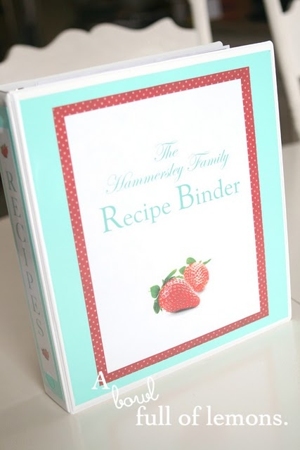 Daily challenge day 34 (8/12/12)  MIY Recipe Binder - I needed a central location for all our favorite recipes so decided to put together a binder of our favorite recipes instead of having to look for that exact recipe online or have to remember which cookbook it's from!
