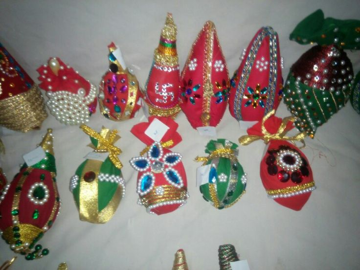 variety of decorated nariyals by friends