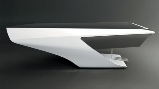 The first product to come out of the Peugeot Design Labs in a collaboration with piano manufacturers Pleyel is a futuristic, streamlined piano.