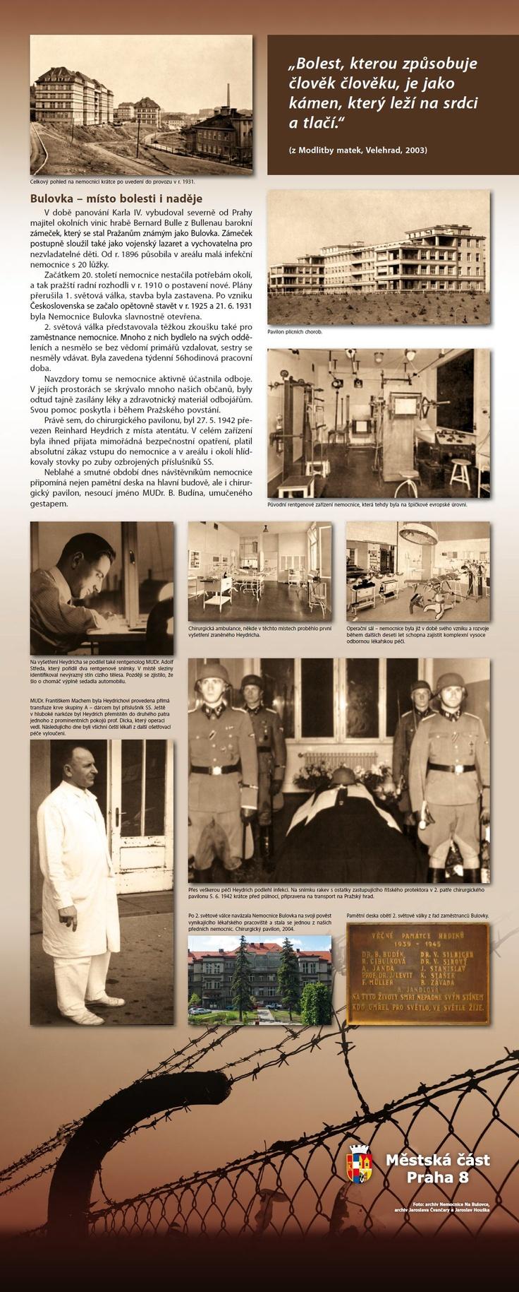 Informační panel k příležitosti 70. výročí Operace Anthropoid
