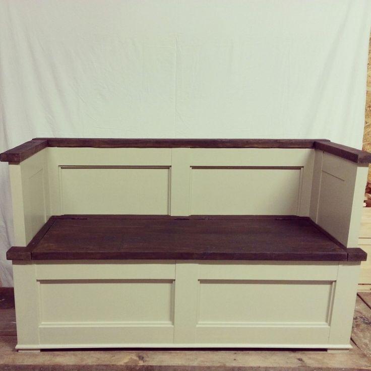 10 Interesting Shabby Chic Storage Bench Foto